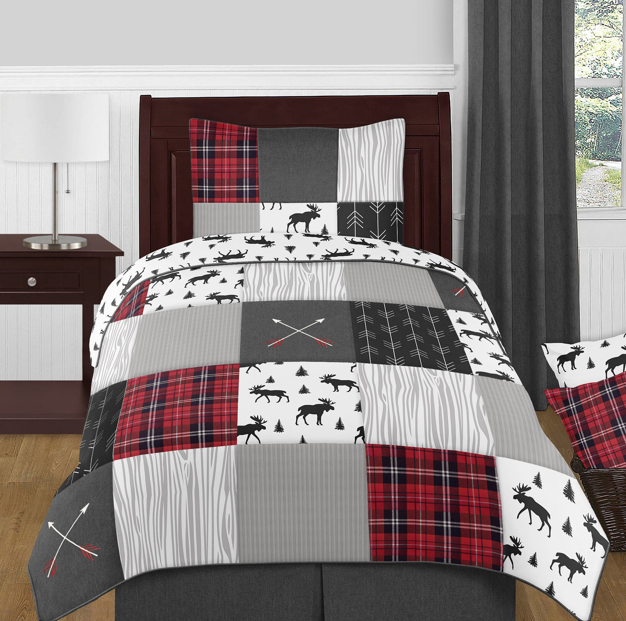 Sweet Jojo Designs Rustic Patch 4 Piece Twin Reversible Comforter Set Reviews Wayfair