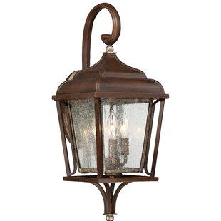 Gracie Oaks Serge 3-Light Outdoor Wall Lantern