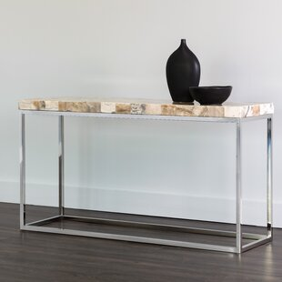 Angelo Onyx Stone Console Table by Sunpan Modern