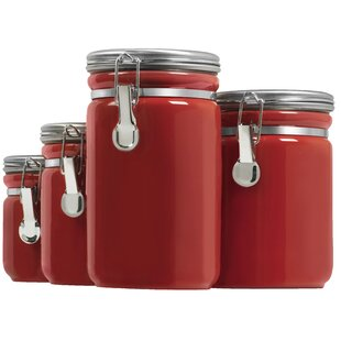 4 Piece Kitchen Canister Set