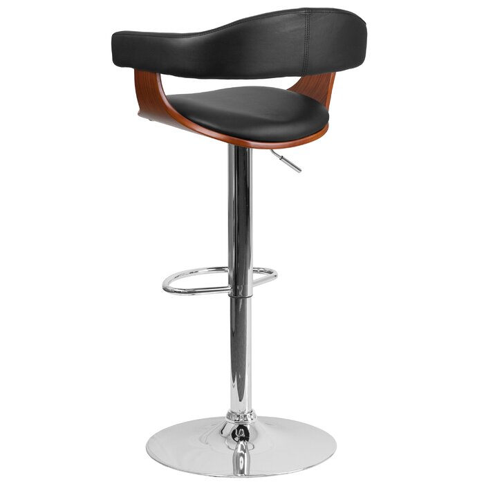 Admirable Alfred Adjustable Height Swivel Bar Stool Caraccident5 Cool Chair Designs And Ideas Caraccident5Info
