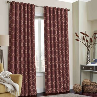 Ginther Geometric Max Blackout Thermal Rod Pocket Single Curtain Panel by Charlton Home
