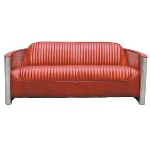 Randle Pilot Leather 2 Seater Sofa By Williston Forge