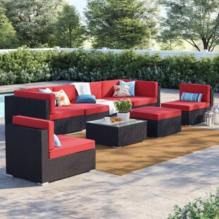 Brentwood 8 Piece Rattan Sectional Set With Cushions by Sol 72 Outdoor Today Only Sale