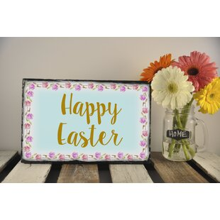 Cyrilmagnin Happy Easter Garden Plaque by The Holiday Aisle