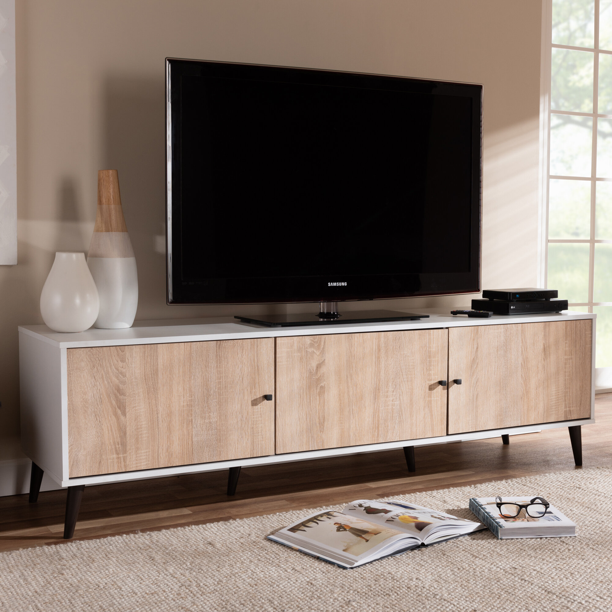 George Oliver Jarod Tv Stand For Tvs Up To 78 Reviews Wayfair