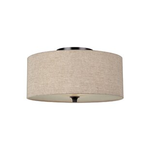 Compare prices Foland 2-Light Flush Mount By Alcott Hill