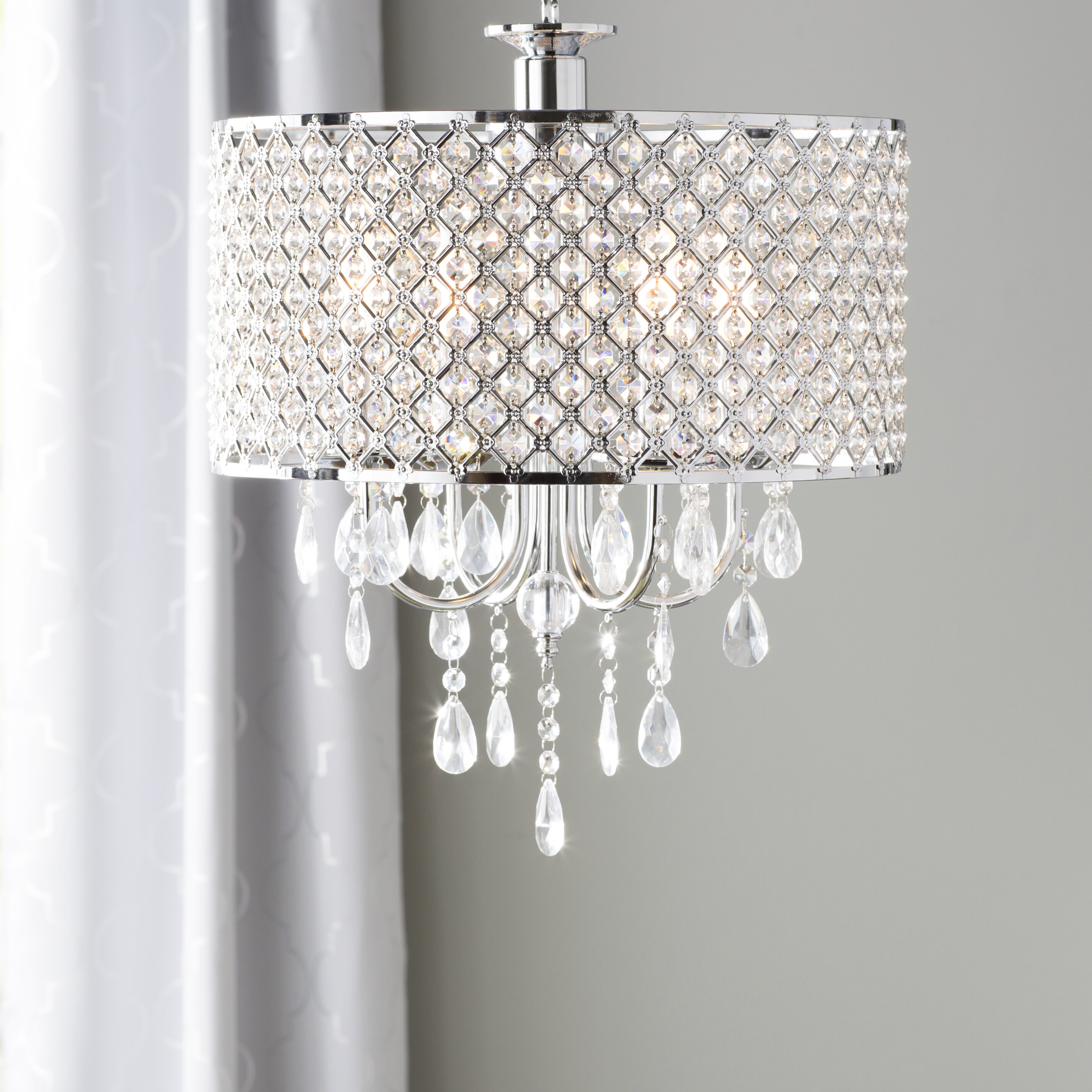 Willa Arlo Interiors Aurore 4-Light LED Crystal Chandelier & Reviews ...