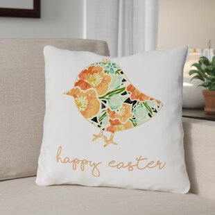 Floral Chick Throw Pillow