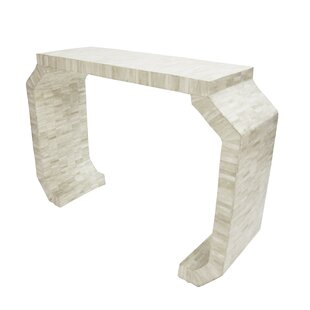 Worlds Away Bone Console Table