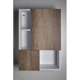Spera Surface Mount Frameless 2 Doors Medicine Cabinet with 4 Shelves by Orren Ellis