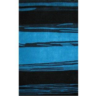 Beale Horizon Hand-Tufted Blue/Black Area Rug ByLatitude Run