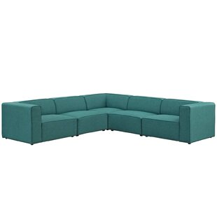 Crick 5 Piece Upholstered Modular Sectional