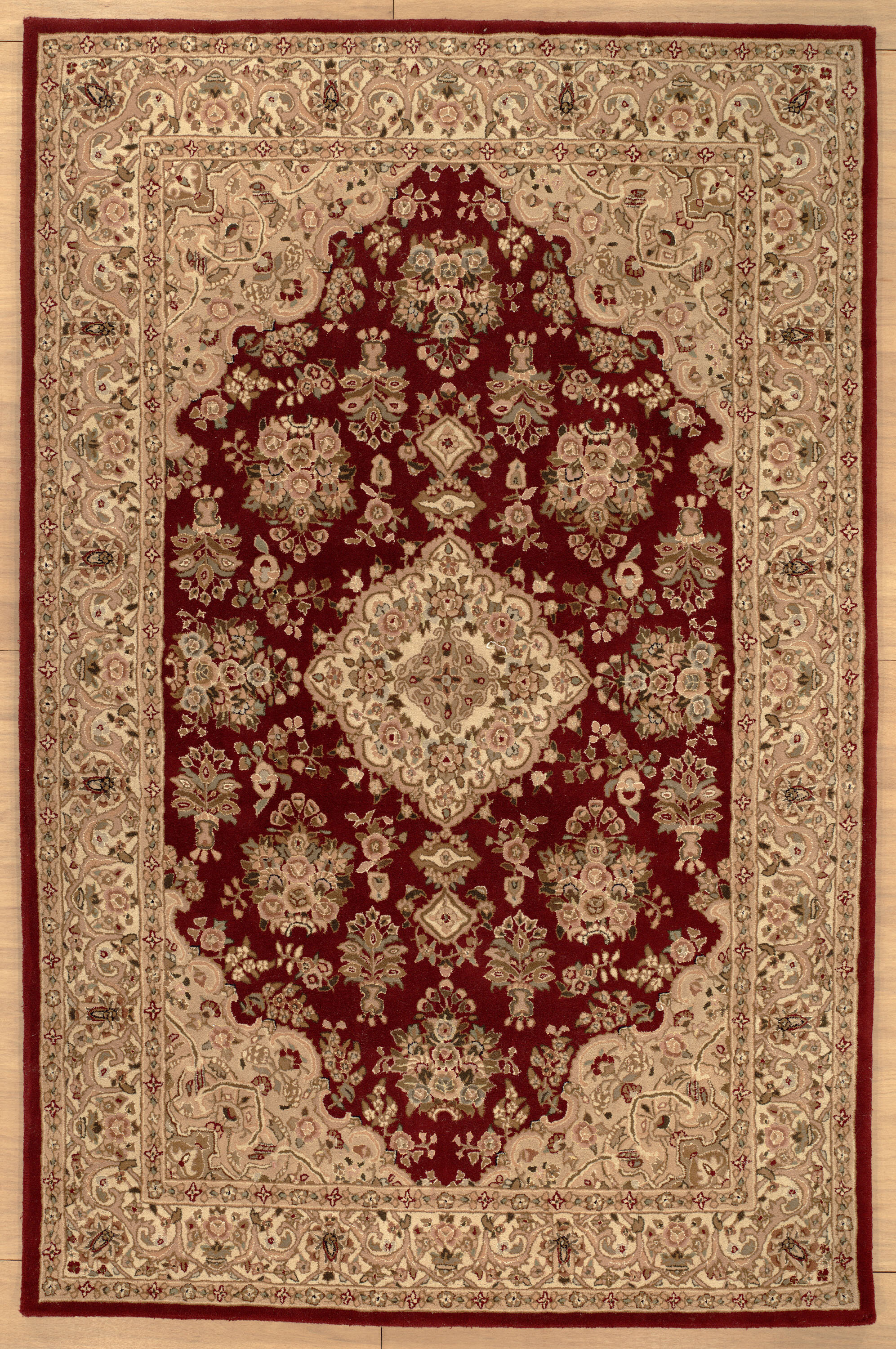 Astoria Grand Oconnell Hand Knotted Wool Red Area Rug Wayfair