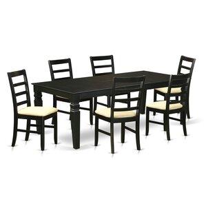 Cedarwood 7 Piece Dining Set by Red Barre..