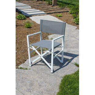 Pinkham Folding Director Chair with Cushion by Wrought Studio