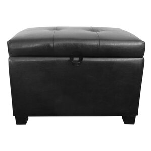 Grissom Leather Storage Ottoman by Red Barrel Studio