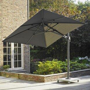 Farrier Lava 2.5' Square Cantilever Sunbrella Umbrella