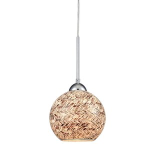 Brigham 1-Light Pendant by World Menagerie
