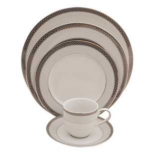 Diamond 5 Piece Fine China Place Setting, Service for 1 (Set of 4)