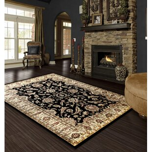 Find Rasmussen Traditional Black/Beige Area Rug By Astoria Grand