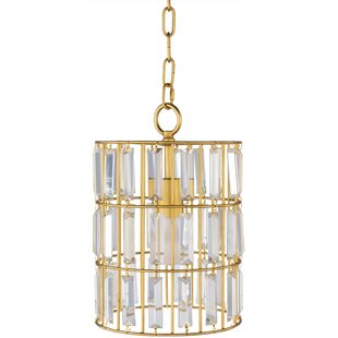 Lammers 1-Light Crystal Pendant by House of Hampton