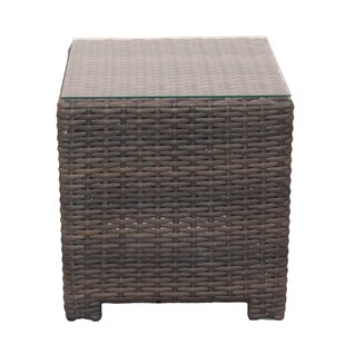 Cribbs Wicker Side Table by Highland Dunes Herry Up