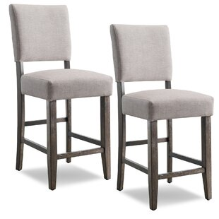 Jennifer Wood 24 Bar Stool (Set of 2) by Gracie Oaks
