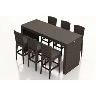 Hodge 7 Piece Bar Height Dining Set with Cushions by Rosecliff Heights