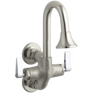 Wall mounted Double Handle Bathroom Faucet