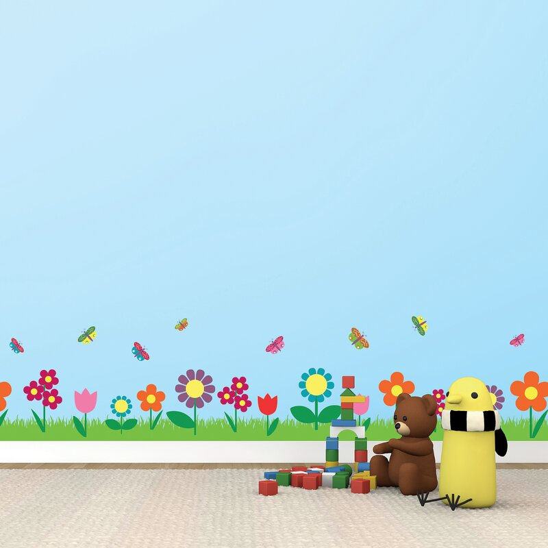 fd26699b0 WallPops! Flowers Border Wall Decal | Wayfair