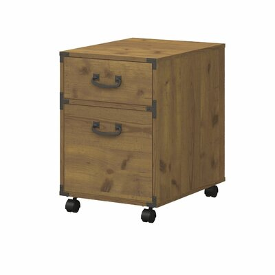 Ironworks 2-Drawer Pedestal Mobile Vertical File by Kathy Ireland Home by Bush Furniture
