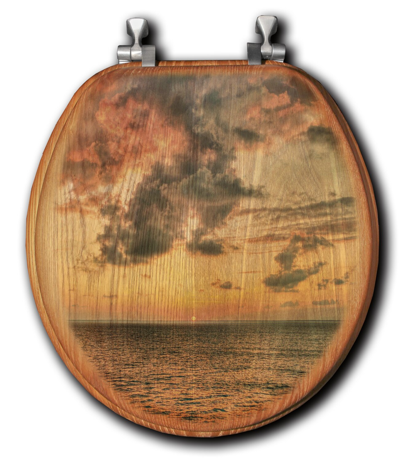 Picture of: Wgi Gallery Sunset Passion Oak Round Toilet Seat Wayfair Ca