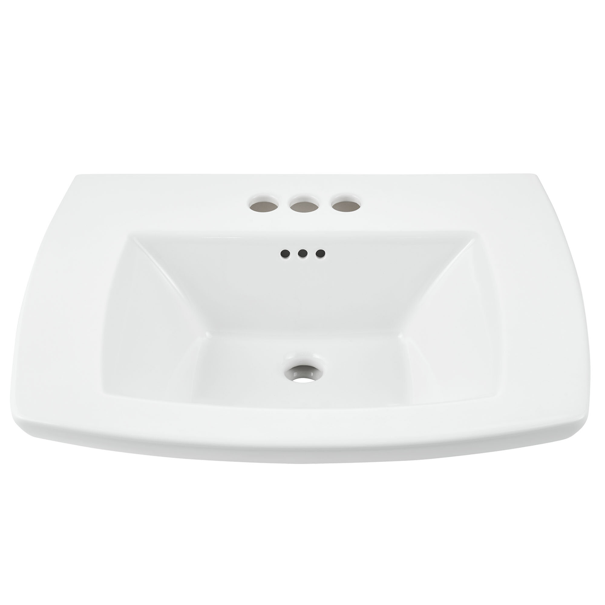Edgemere White Ceramic Rectangular Console Bathroom Sink With Overflow Reviews