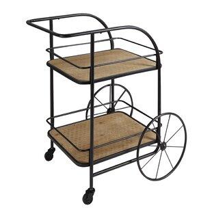 Poirier Trolley Frame Bar Cart by Williston Forge