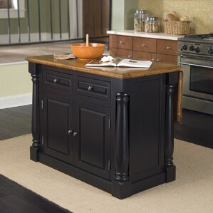 Traditional Wood Kitchen Island by Lau..