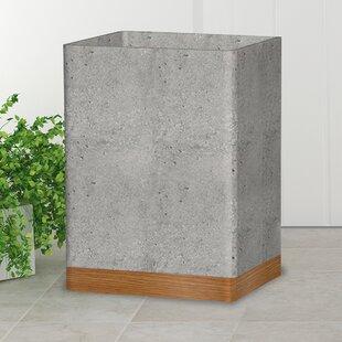 Greyleigh Stonington Concrete Stone/Wooden Wastebasket