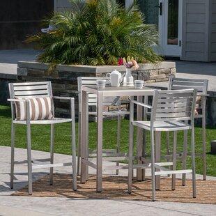 Royalston Outdoor 5 Piece Bar Set by Brayden Studio