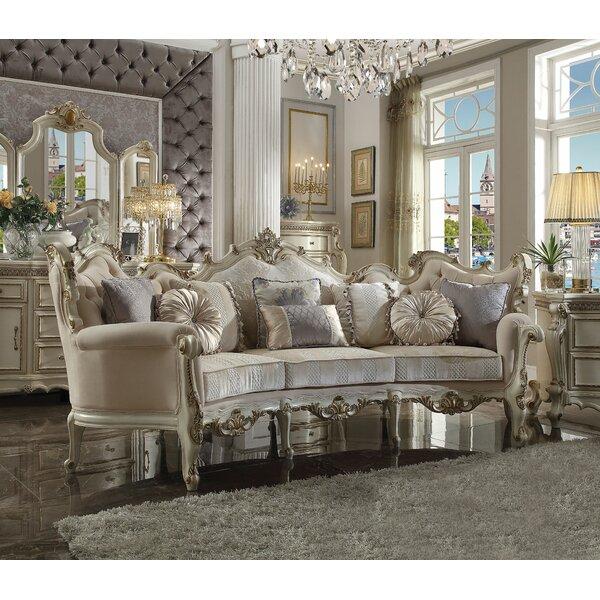 Astoria Grand Berlinville 113 Velvet Rolled Arm Sofa Wayfair