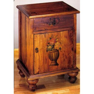 Meyda Tiffany Potted Flowers Colonial Accent Cabinet