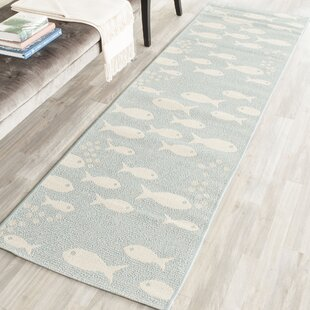 Lake Park Aqua/Beige Indoor/Outdoor Area Rug