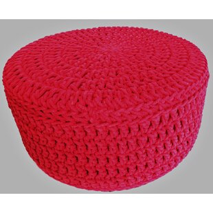 Extra Large Round Knitted Pouffe By Hokku Designs