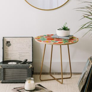 Price comparison Zoe Wodarz Delightful Floral End Table by East Urban Home