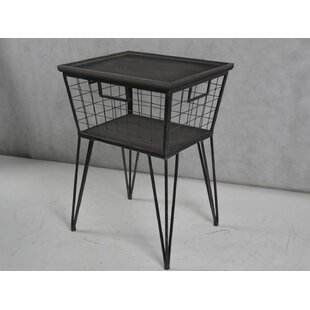 Hinckley Industrial End Table with Storage