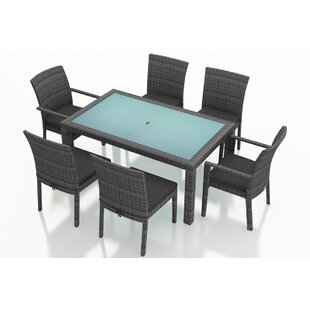 Harmonia Living District 7 Piece Sunbrella Dining Set with Cushions