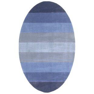 Degarmo Blue Stripes Area Rug byMercury Row