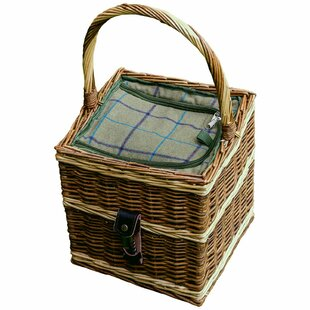 Wicker Picnic Basket With Fitted Cooler By Alpen Home
