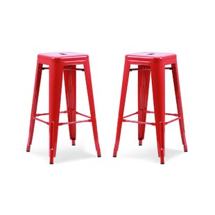 Brayden Studio Vogan Adjustable Height Bar Stool (Set of 2)