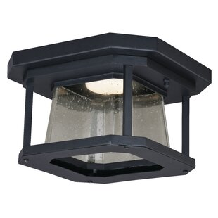 Herrell 1-Light Outdoor Flush Mount By Brayden Studio Outdoor Lighting