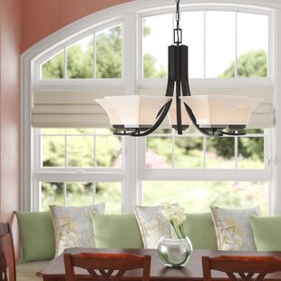 Three Posts Byrnes 5-Light Shaded Chandelier
